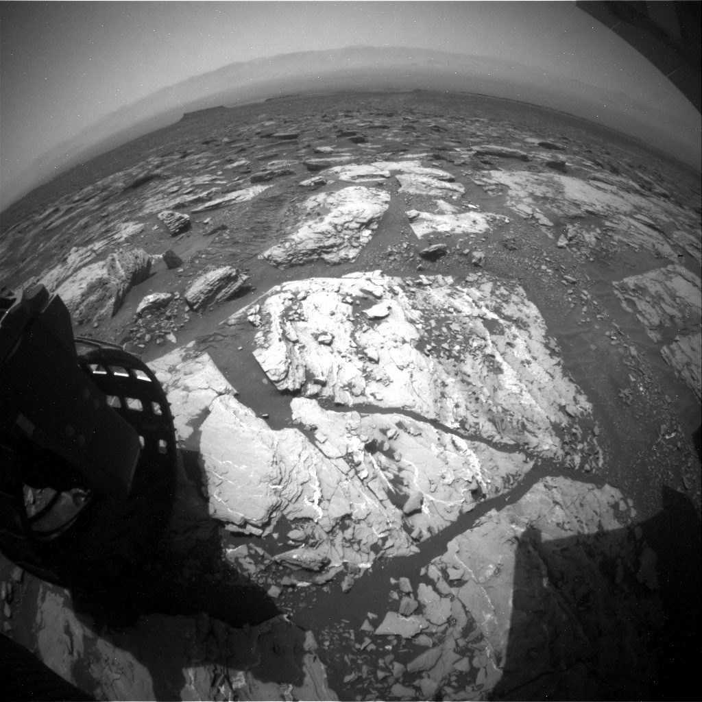 NASA's Mars rover Curiosity acquired this image using its Rear Hazard Avoidance Cameras (Rear Hazcams) on Sol 1721