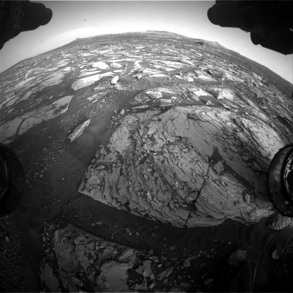 Nasa's Mars rover Curiosity acquired this image using its Front Hazard Avoidance Camera (Front Hazcam) on Sol 1723, at drive 3092, site number 63