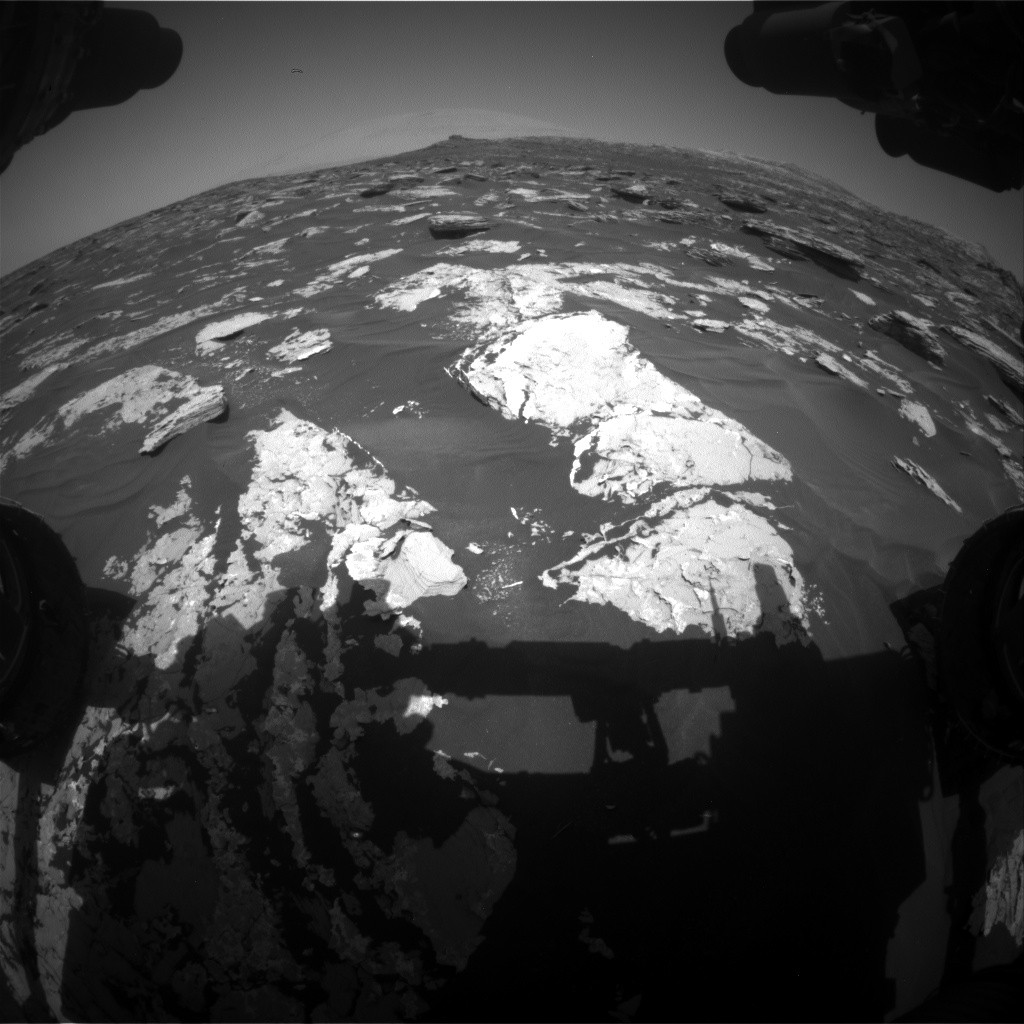Nasa's Mars rover Curiosity acquired this image using its Front Hazard Avoidance Camera (Front Hazcam) on Sol 1724, at drive 3326, site number 63