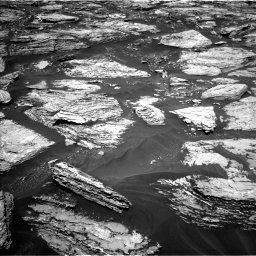 Nasa's Mars rover Curiosity acquired this image using its Left Navigation Camera on Sol 1724, at drive 3164, site number 63