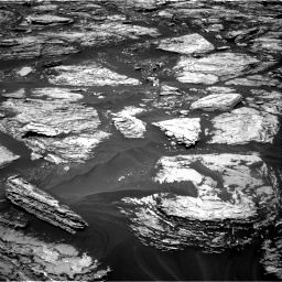 Nasa's Mars rover Curiosity acquired this image using its Right Navigation Camera on Sol 1724, at drive 3164, site number 63