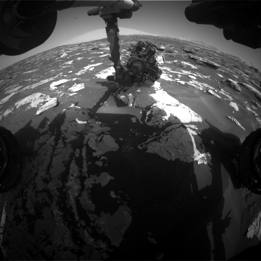 Nasa's Mars rover Curiosity acquired this image using its Front Hazard Avoidance Camera (Front Hazcam) on Sol 1725, at drive 3326, site number 63
