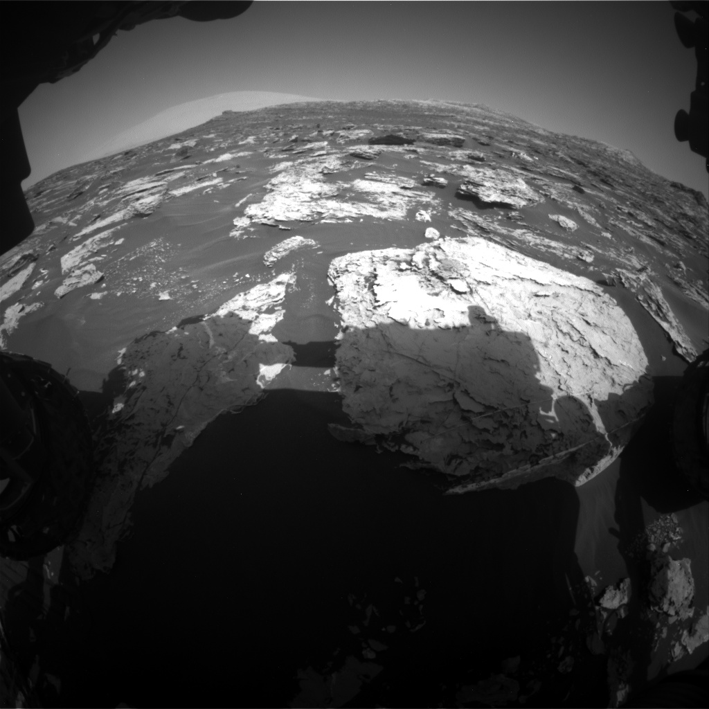 Nasa's Mars rover Curiosity acquired this image using its Front Hazard Avoidance Camera (Front Hazcam) on Sol 1726, at drive 0, site number 64