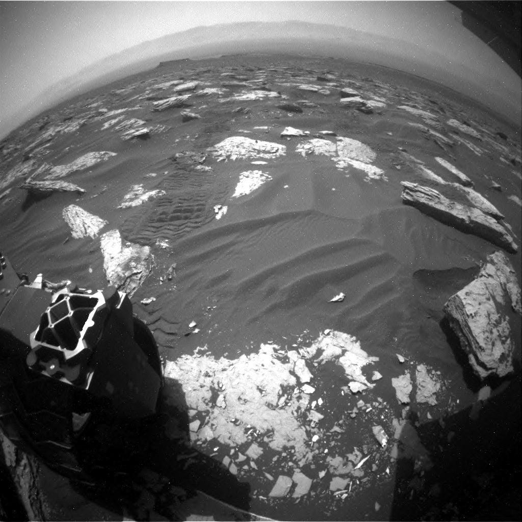 NASA's Mars rover Curiosity acquired this image using its Rear Hazard Avoidance Cameras (Rear Hazcams) on Sol 1726