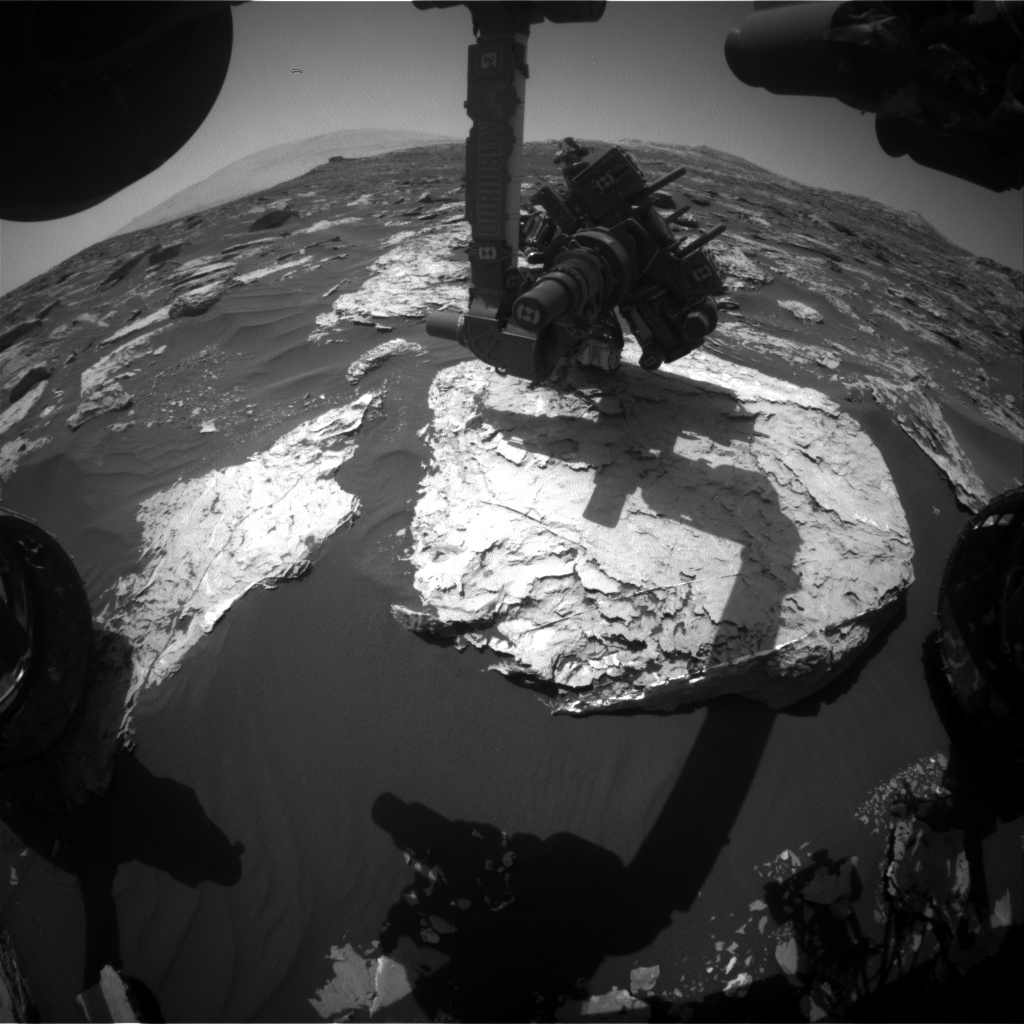 Nasa's Mars rover Curiosity acquired this image using its Front Hazard Avoidance Camera (Front Hazcam) on Sol 1727, at drive 0, site number 64