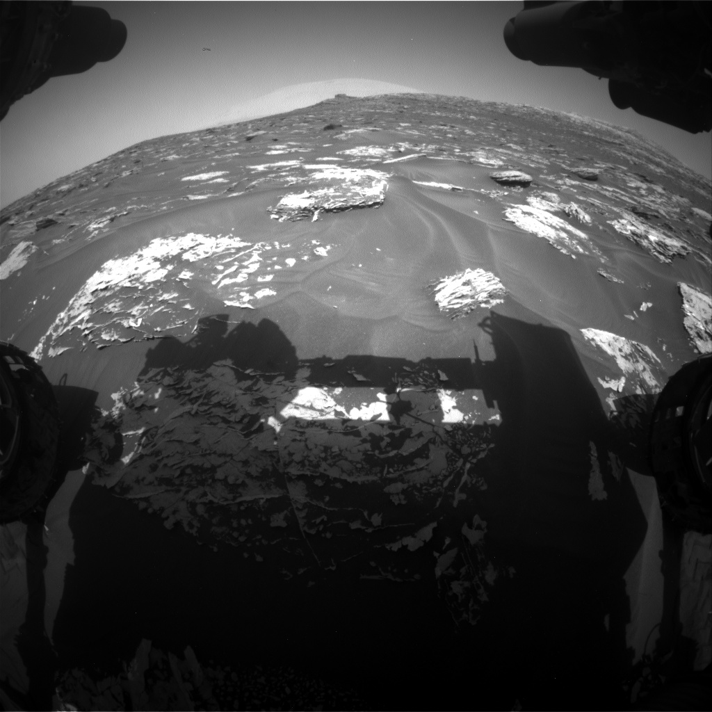 Nasa's Mars rover Curiosity acquired this image using its Front Hazard Avoidance Camera (Front Hazcam) on Sol 1727, at drive 252, site number 64