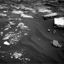 Nasa's Mars rover Curiosity acquired this image using its Right Navigation Camera on Sol 1727, at drive 132, site number 64