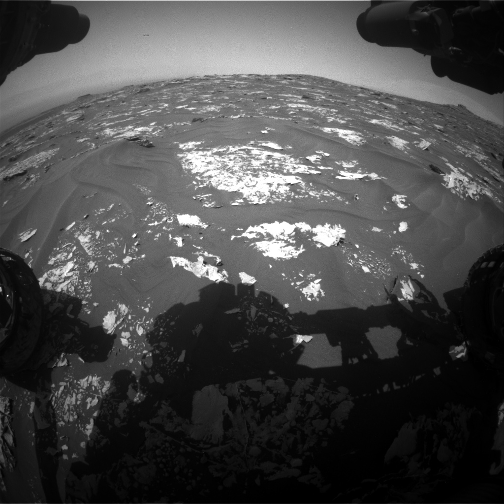 Nasa's Mars rover Curiosity acquired this image using its Front Hazard Avoidance Camera (Front Hazcam) on Sol 1728, at drive 420, site number 64