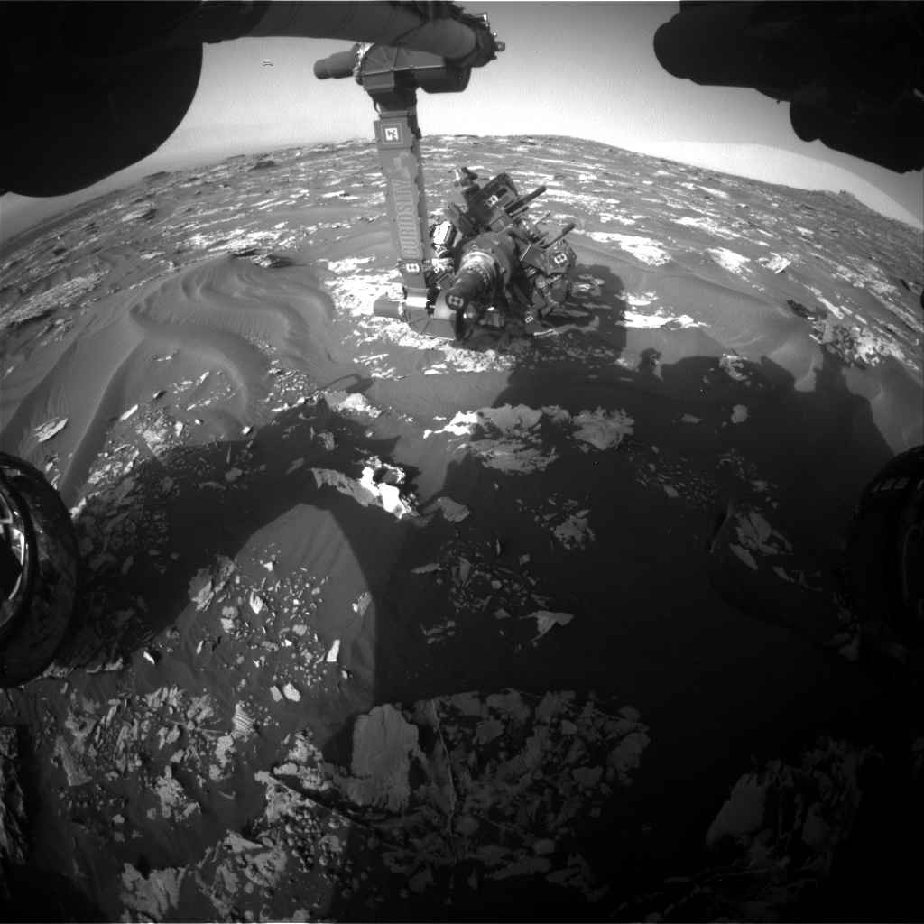 Nasa's Mars rover Curiosity acquired this image using its Front Hazard Avoidance Camera (Front Hazcam) on Sol 1729, at drive 420, site number 64