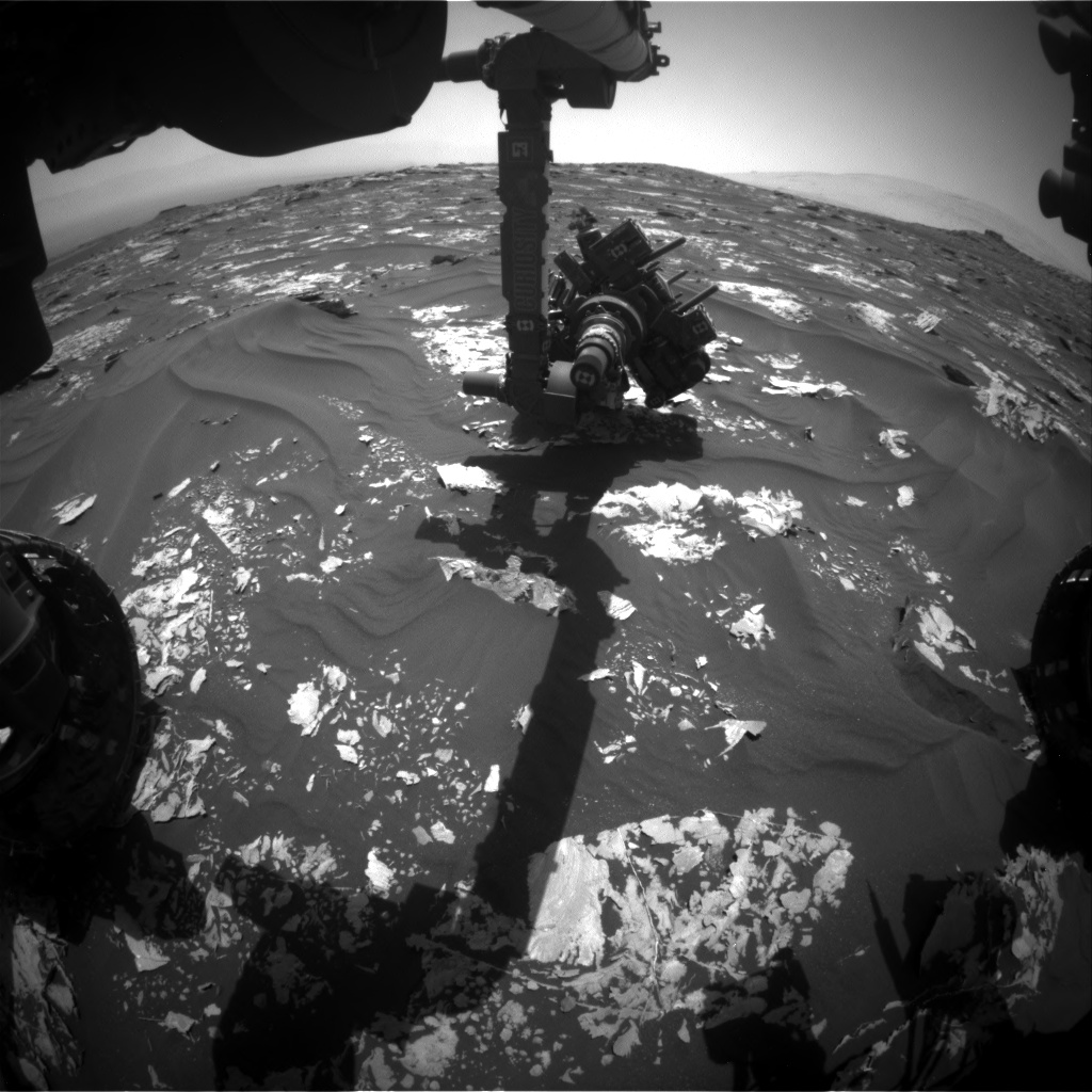 Nasa's Mars rover Curiosity acquired this image using its Front Hazard Avoidance Camera (Front Hazcam) on Sol 1730, at drive 420, site number 64