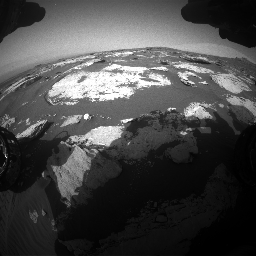 Nasa's Mars rover Curiosity acquired this image using its Front Hazard Avoidance Camera (Front Hazcam) on Sol 1730, at drive 678, site number 64