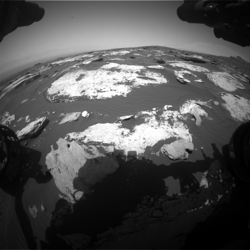 Nasa's Mars rover Curiosity acquired this image using its Front Hazard Avoidance Camera (Front Hazcam) on Sol 1731, at drive 678, site number 64