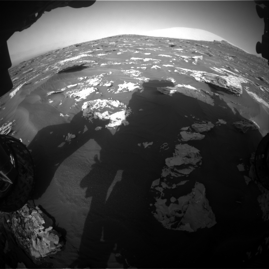 NASA's Mars rover Curiosity acquired this image using its Front Hazard Avoidance Cameras (Front Hazcams) on Sol 1732