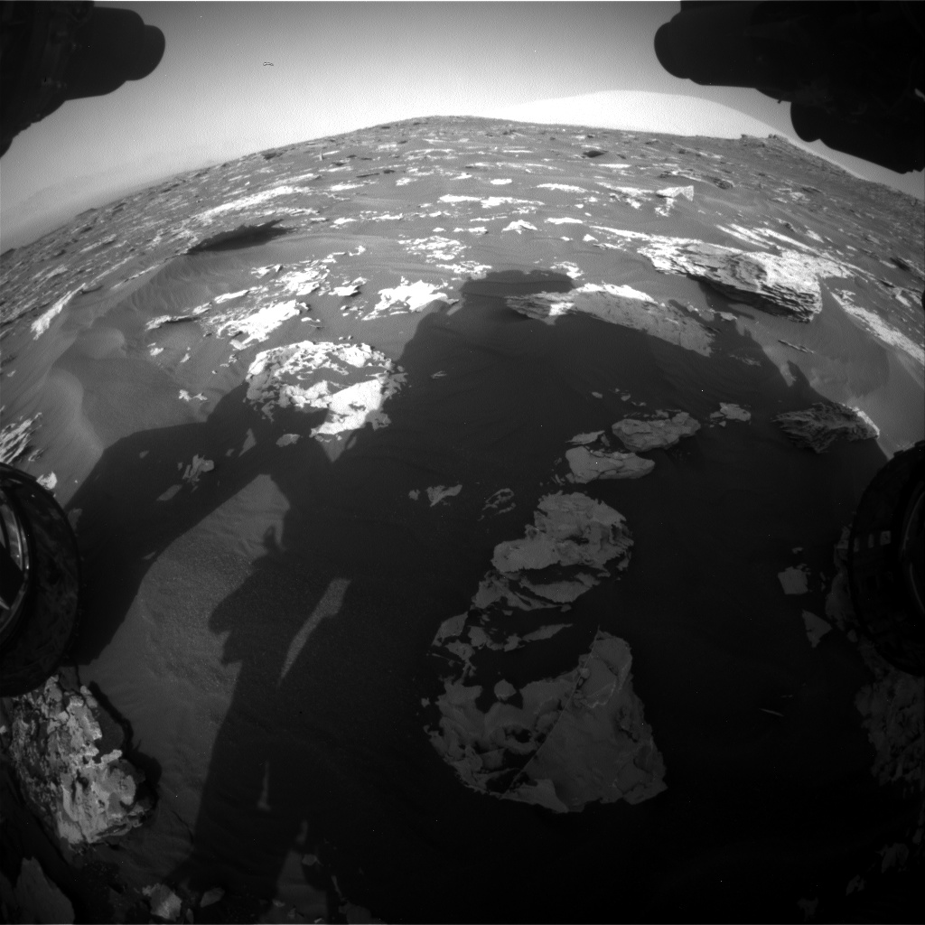 Nasa's Mars rover Curiosity acquired this image using its Front Hazard Avoidance Camera (Front Hazcam) on Sol 1732, at drive 846, site number 64