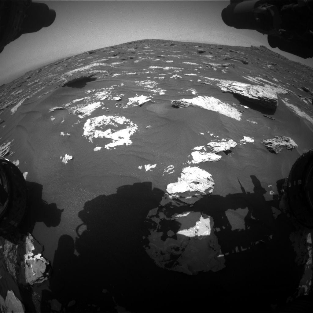 Nasa's Mars rover Curiosity acquired this image using its Front Hazard Avoidance Camera (Front Hazcam) on Sol 1733, at drive 846, site number 64