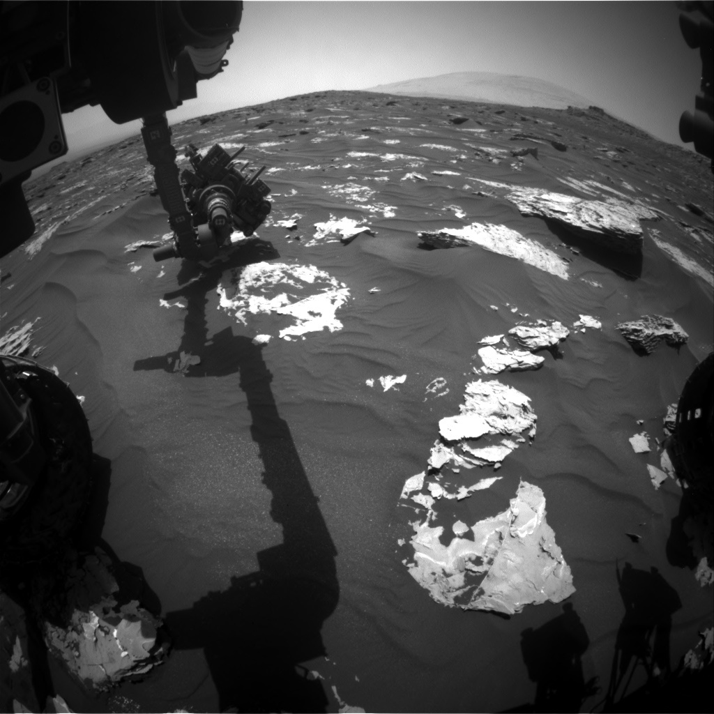 NASA's Mars rover Curiosity acquired this image using its Front Hazard Avoidance Cameras (Front Hazcams) on Sol 1734