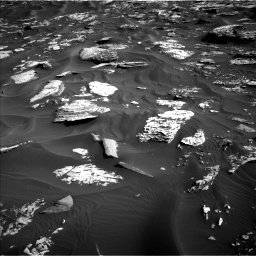 Nasa's Mars rover Curiosity acquired this image using its Left Navigation Camera on Sol 1734, at drive 984, site number 64
