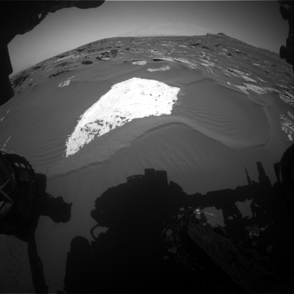 Nasa's Mars rover Curiosity acquired this image using its Front Hazard Avoidance Camera (Front Hazcam) on Sol 1735, at drive 996, site number 64