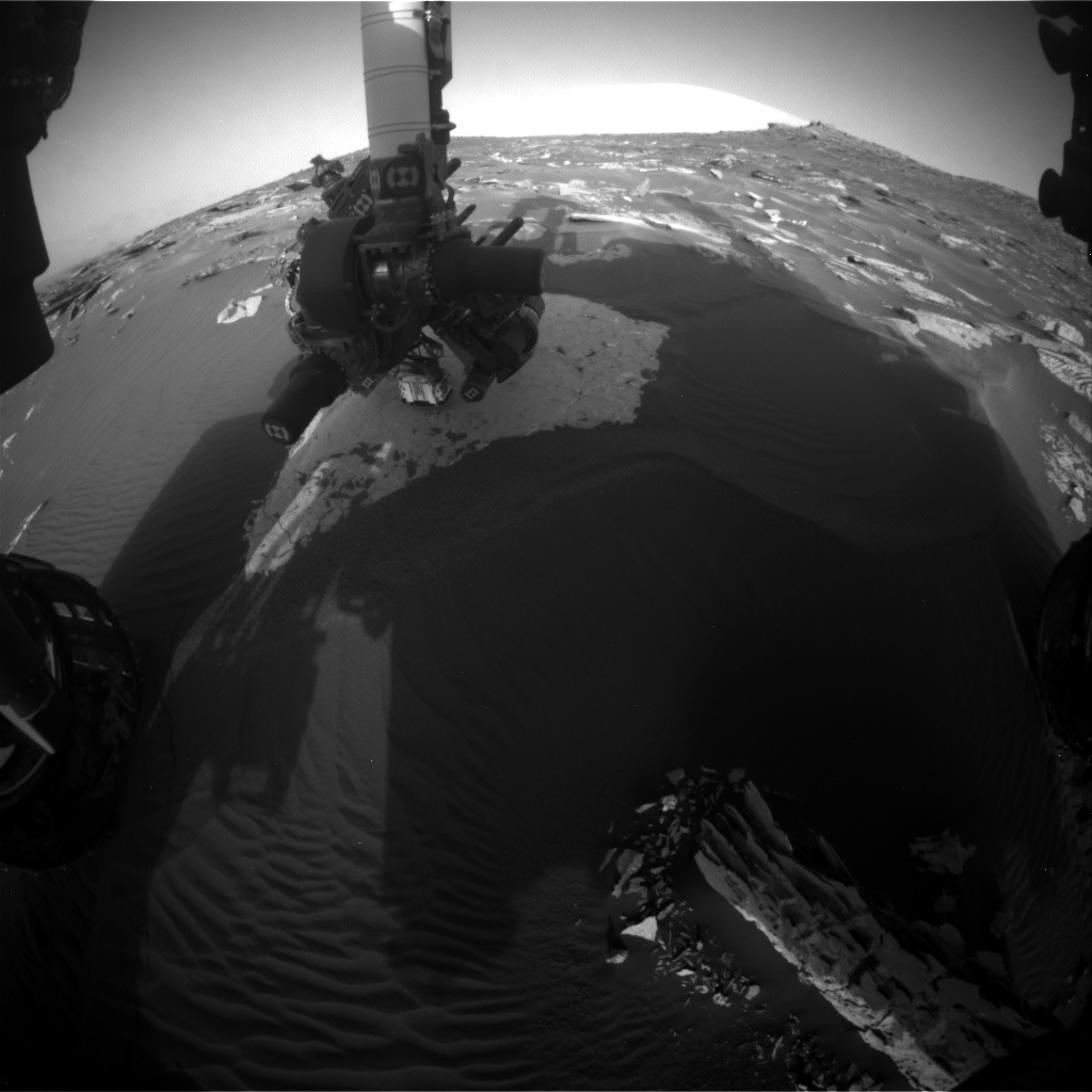 Nasa's Mars rover Curiosity acquired this image using its Front Hazard Avoidance Camera (Front Hazcam) on Sol 1736, at drive 996, site number 64