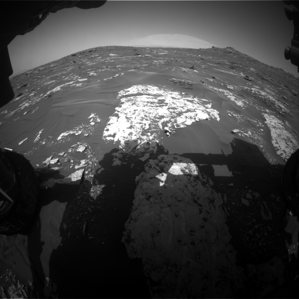 Nasa's Mars rover Curiosity acquired this image using its Front Hazard Avoidance Camera (Front Hazcam) on Sol 1737, at drive 1194, site number 64