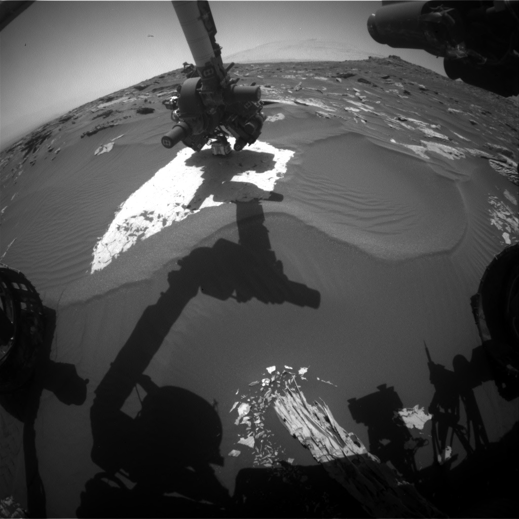 Nasa's Mars rover Curiosity acquired this image using its Front Hazard Avoidance Camera (Front Hazcam) on Sol 1737, at drive 996, site number 64