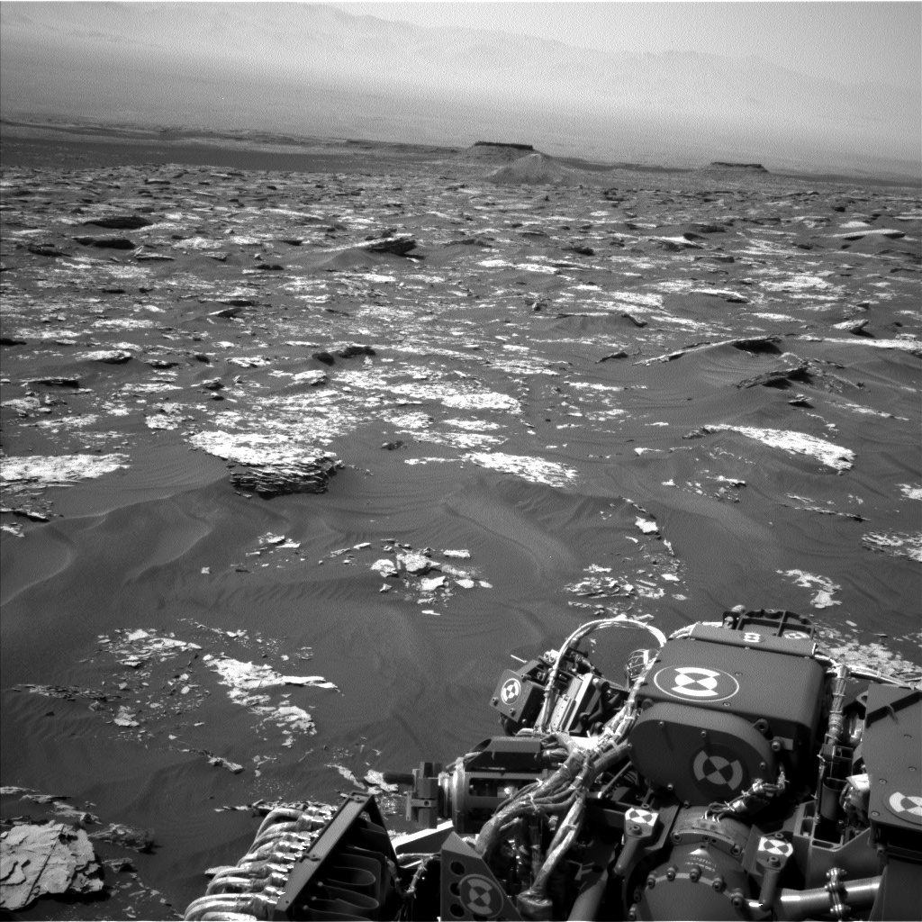 Nasa's Mars rover Curiosity acquired this image using its Left Navigation Camera on Sol 1737, at drive 1194, site number 64