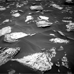 Nasa's Mars rover Curiosity acquired this image using its Right Navigation Camera on Sol 1737, at drive 1002, site number 64