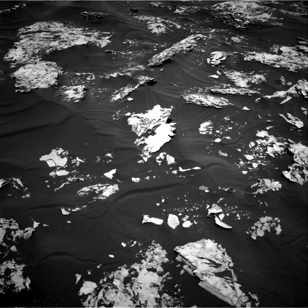 Nasa's Mars rover Curiosity acquired this image using its Right Navigation Camera on Sol 1737, at drive 1158, site number 64