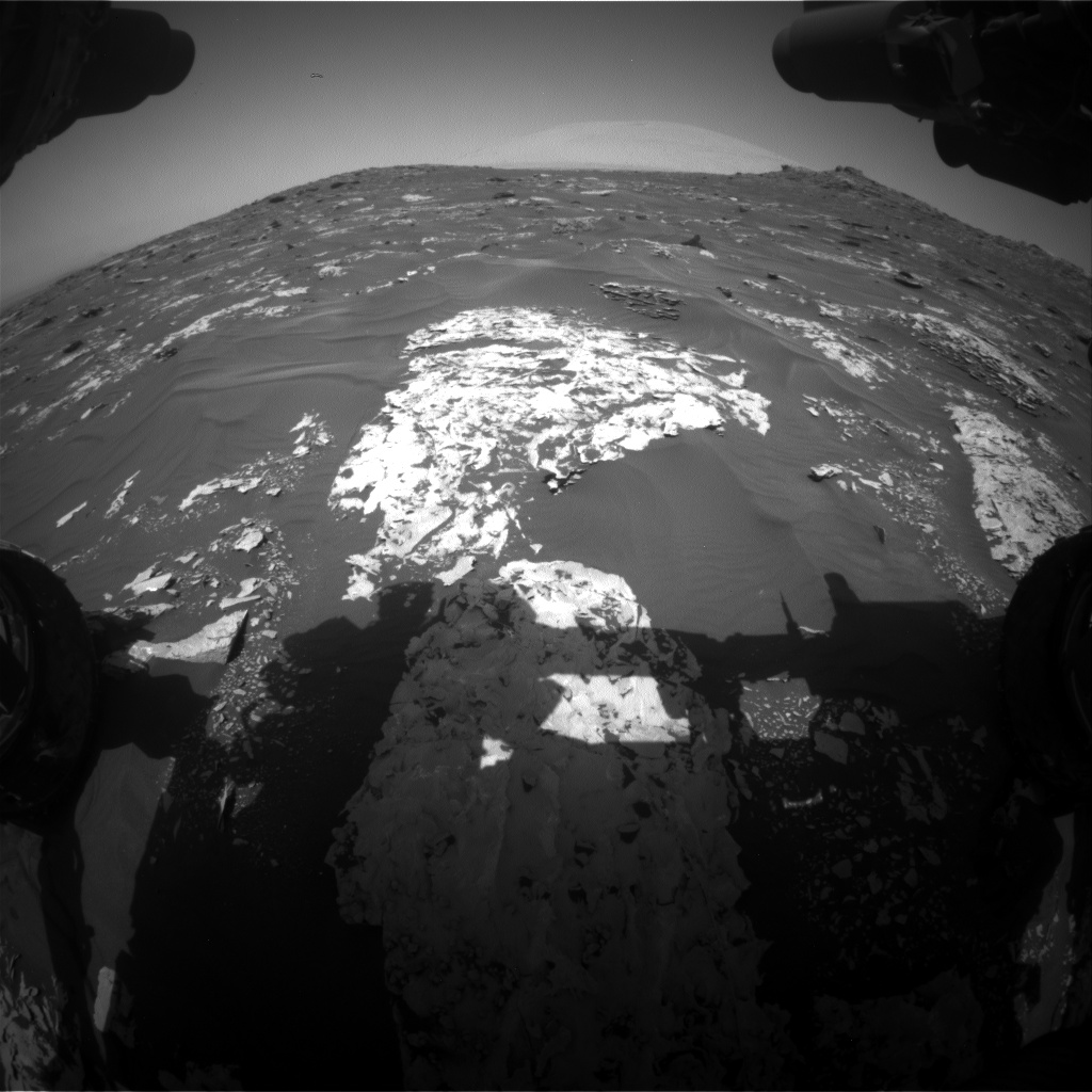 Nasa's Mars rover Curiosity acquired this image using its Front Hazard Avoidance Camera (Front Hazcam) on Sol 1738, at drive 1194, site number 64