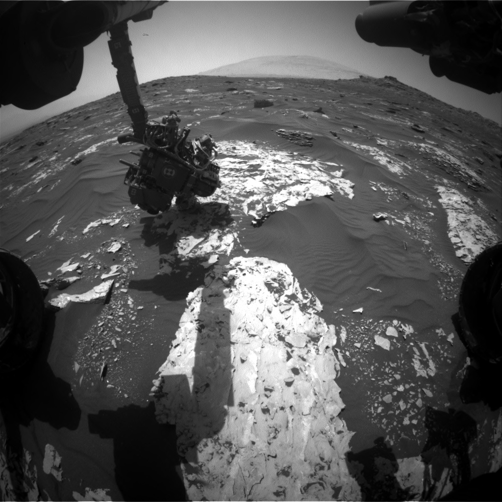 Nasa's Mars rover Curiosity acquired this image using its Front Hazard Avoidance Camera (Front Hazcam) on Sol 1739, at drive 1194, site number 64