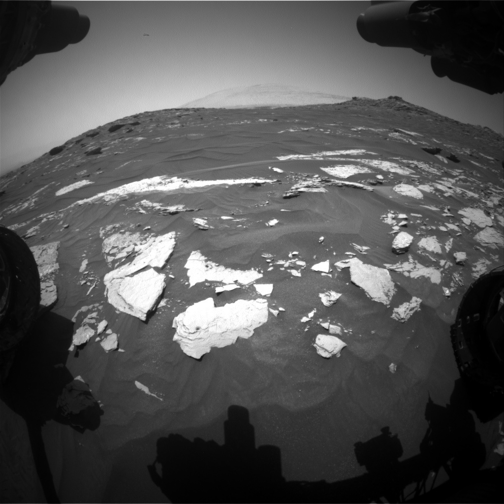 NASA's Mars rover Curiosity acquired this image using its Front Hazard Avoidance Cameras (Front Hazcams) on Sol 1740