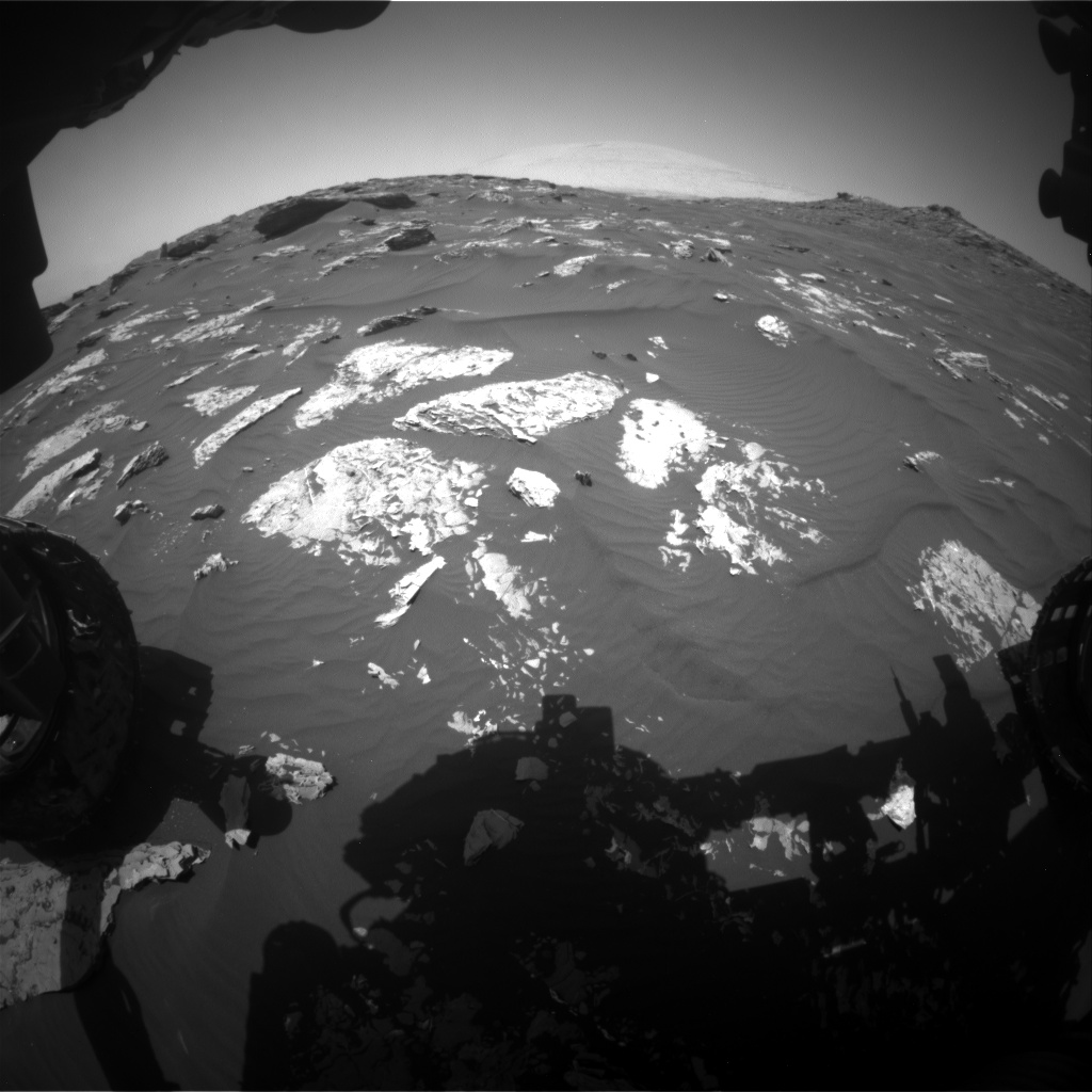 Nasa's Mars rover Curiosity acquired this image using its Front Hazard Avoidance Camera (Front Hazcam) on Sol 1741, at drive 1626, site number 64