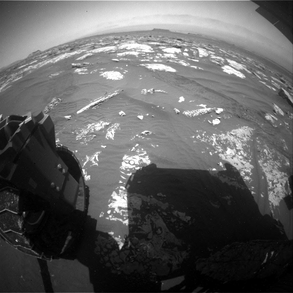 NASA's Mars rover Curiosity acquired this image using its Rear Hazard Avoidance Cameras (Rear Hazcams) on Sol 1741