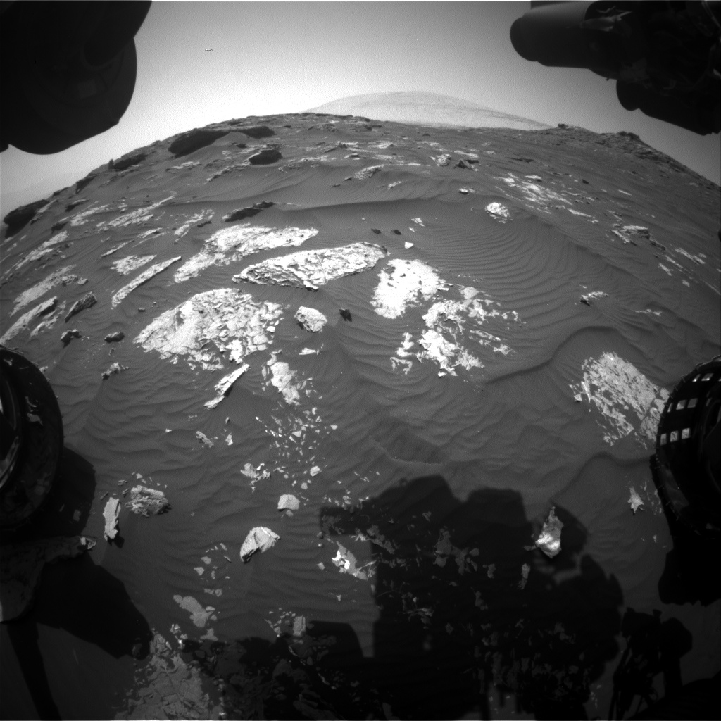 Nasa's Mars rover Curiosity acquired this image using its Front Hazard Avoidance Camera (Front Hazcam) on Sol 1742, at drive 1626, site number 64