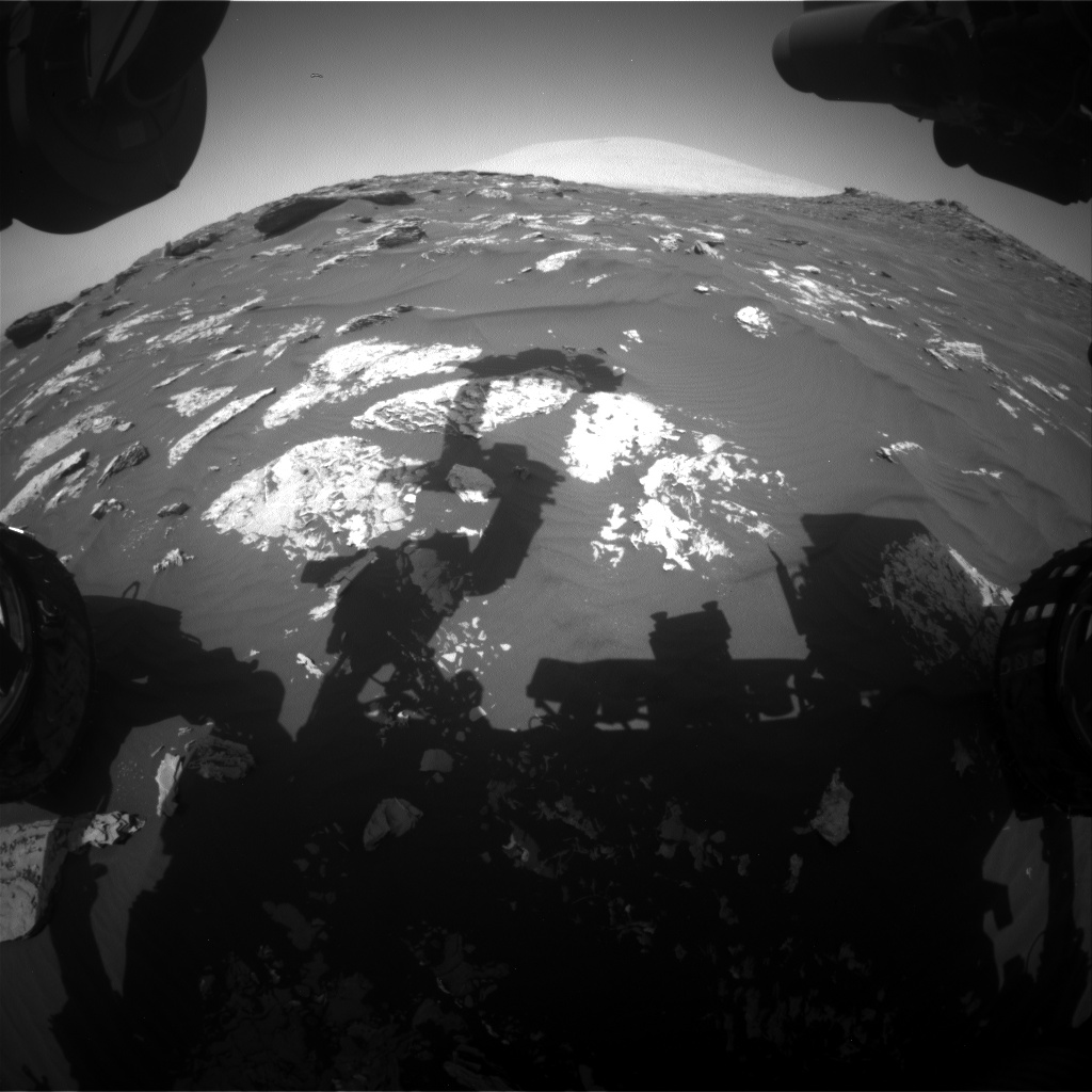 Nasa's Mars rover Curiosity acquired this image using its Front Hazard Avoidance Camera (Front Hazcam) on Sol 1743, at drive 1626, site number 64