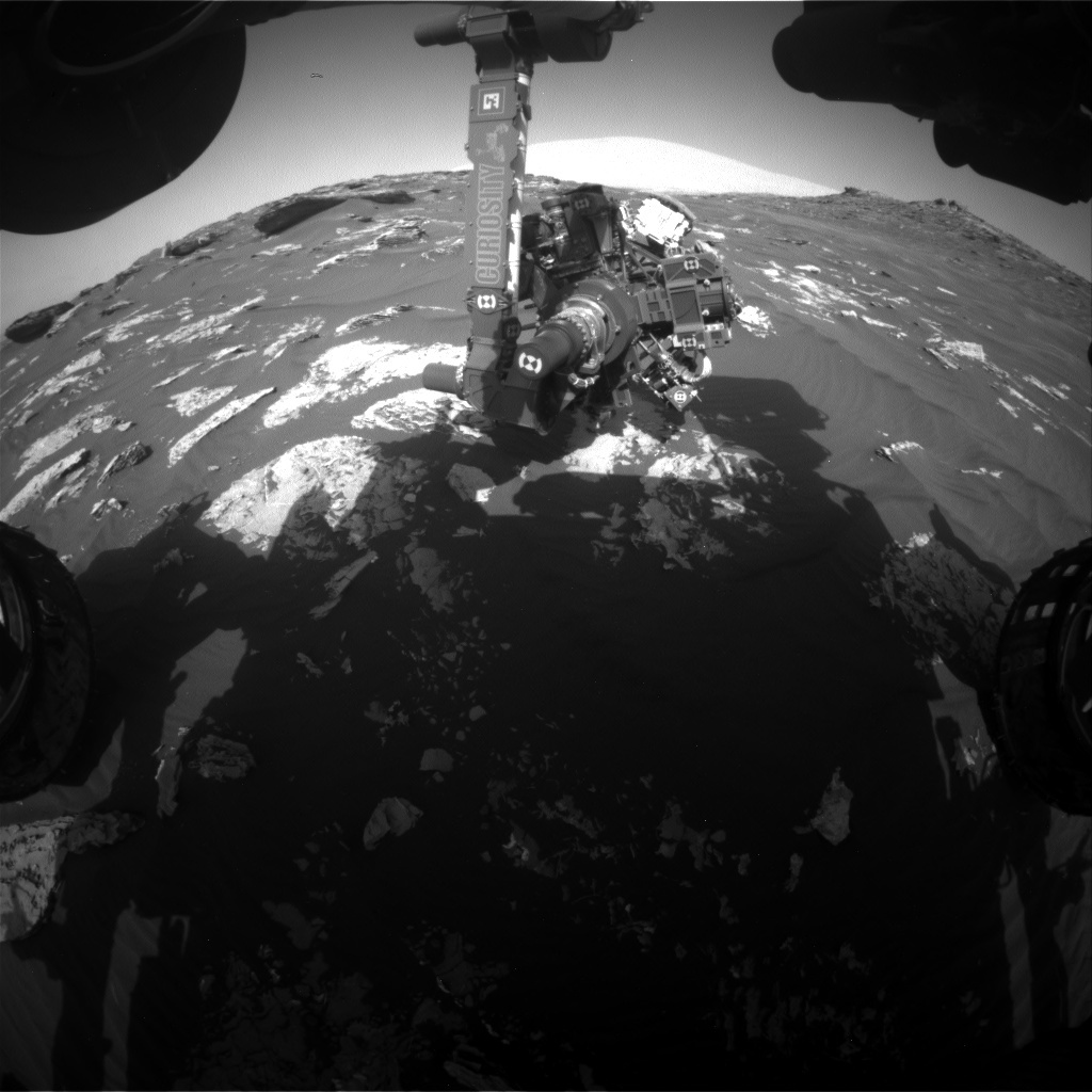 NASA's Mars rover Curiosity acquired this image using its Front Hazard Avoidance Cameras (Front Hazcams) on Sol 1744