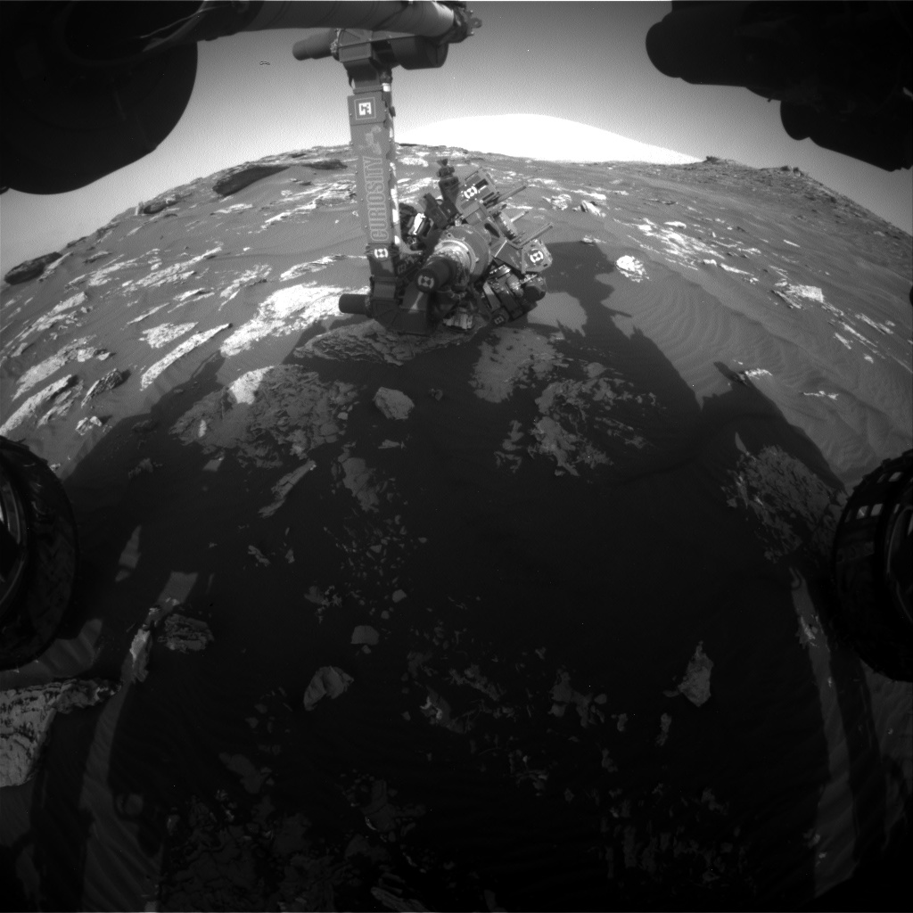 Nasa's Mars rover Curiosity acquired this image using its Front Hazard Avoidance Camera (Front Hazcam) on Sol 1744, at drive 1626, site number 64