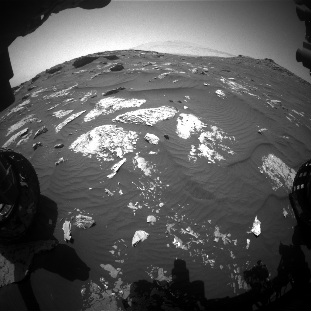 Nasa's Mars rover Curiosity acquired this image using its Front Hazard Avoidance Camera (Front Hazcam) on Sol 1745, at drive 1626, site number 64
