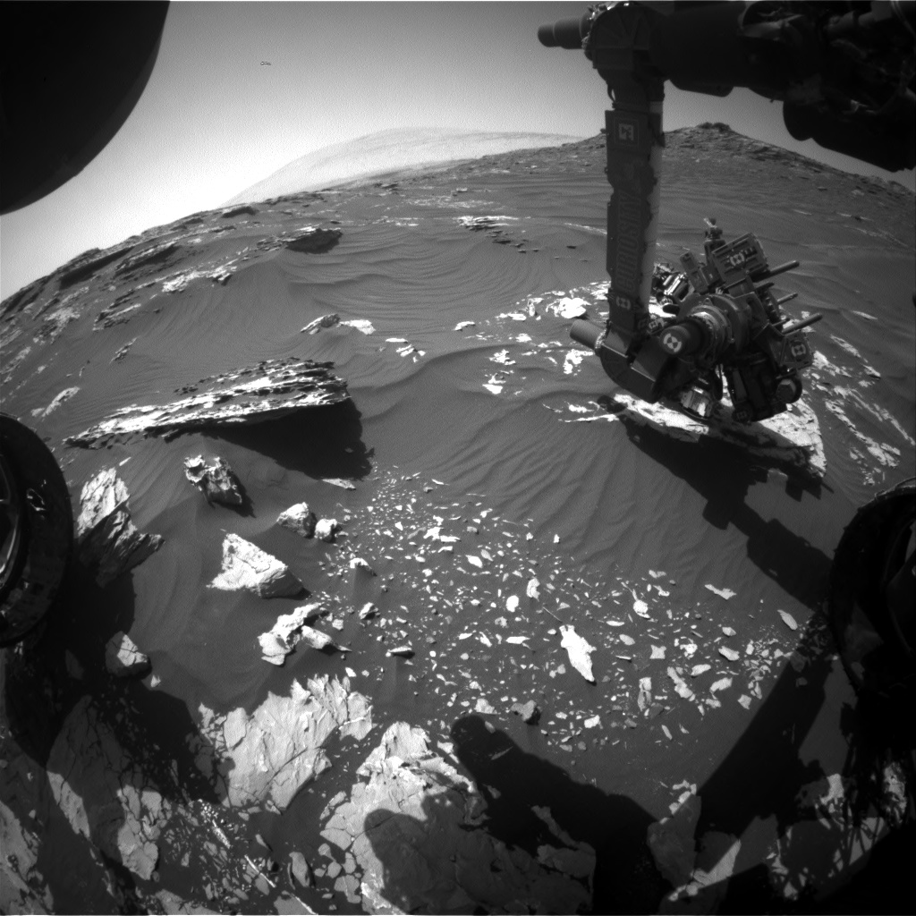 Nasa's Mars rover Curiosity acquired this image using its Front Hazard Avoidance Camera (Front Hazcam) on Sol 1747, at drive 1890, site number 64