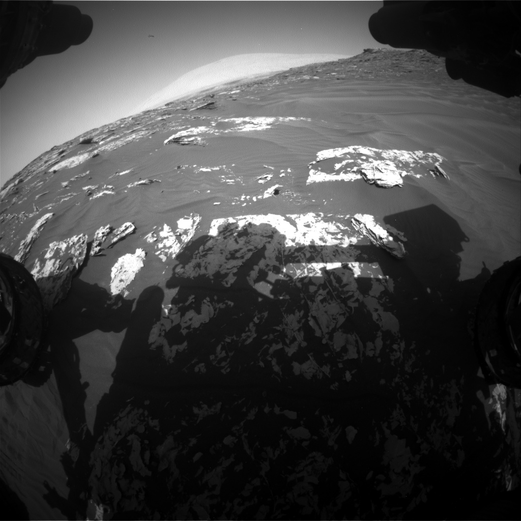 Nasa's Mars rover Curiosity acquired this image using its Front Hazard Avoidance Camera (Front Hazcam) on Sol 1747, at drive 1980, site number 64