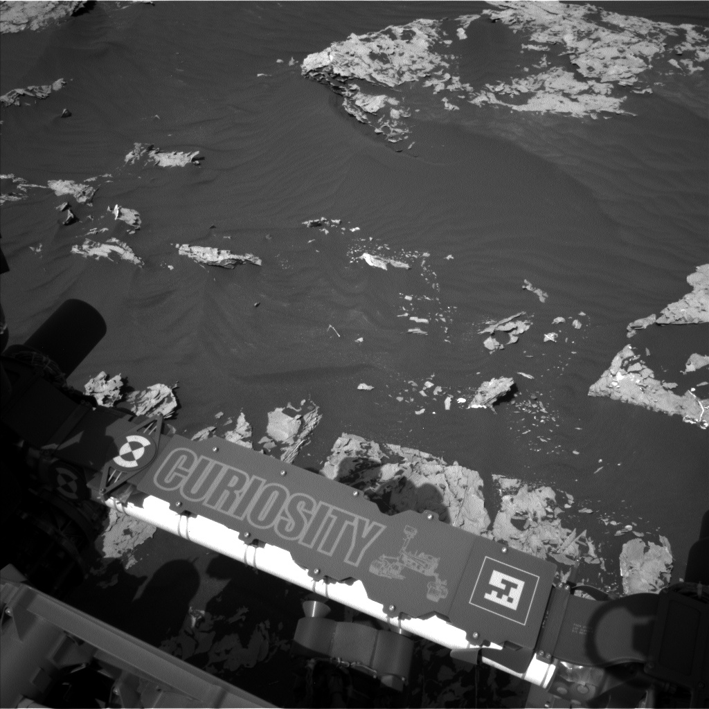 Nasa's Mars rover Curiosity acquired this image using its Left Navigation Camera on Sol 1747, at drive 1980, site number 64