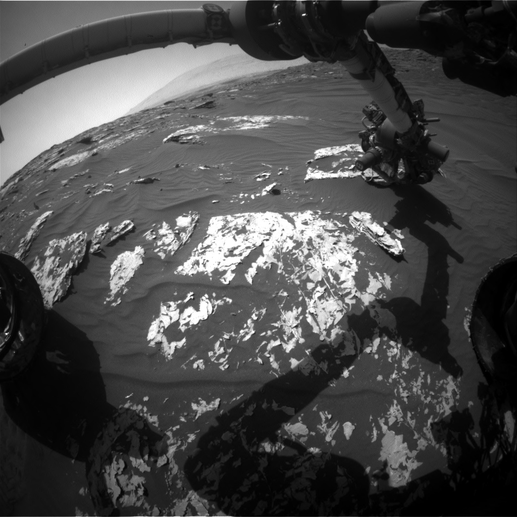 Nasa's Mars rover Curiosity acquired this image using its Front Hazard Avoidance Camera (Front Hazcam) on Sol 1748, at drive 1980, site number 64