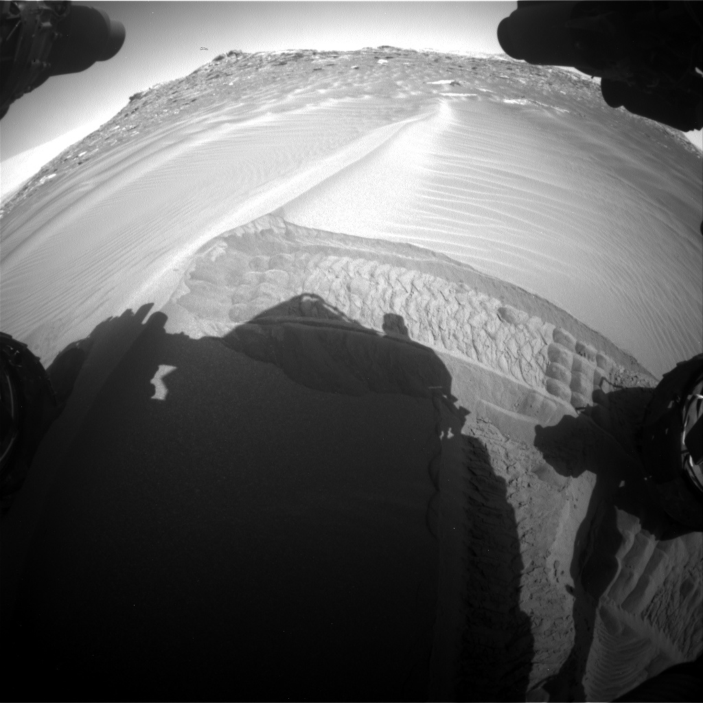 Nasa's Mars rover Curiosity acquired this image using its Front Hazard Avoidance Camera (Front Hazcam) on Sol 1748, at drive 2088, site number 64
