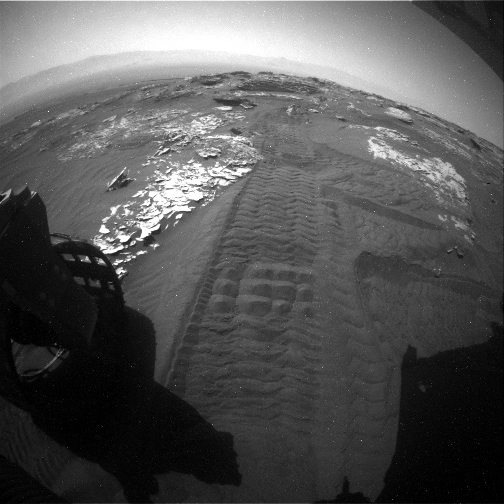 NASA's Mars rover Curiosity acquired this image using its Rear Hazard Avoidance Cameras (Rear Hazcams) on Sol 1748