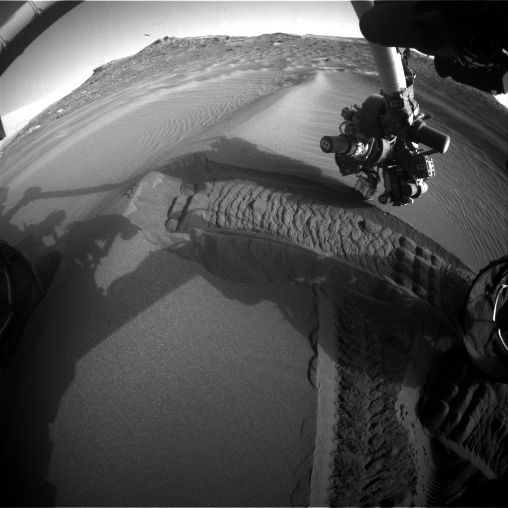 Nasa's Mars rover Curiosity acquired this image using its Front Hazard Avoidance Camera (Front Hazcam) on Sol 1749, at drive 2088, site number 64