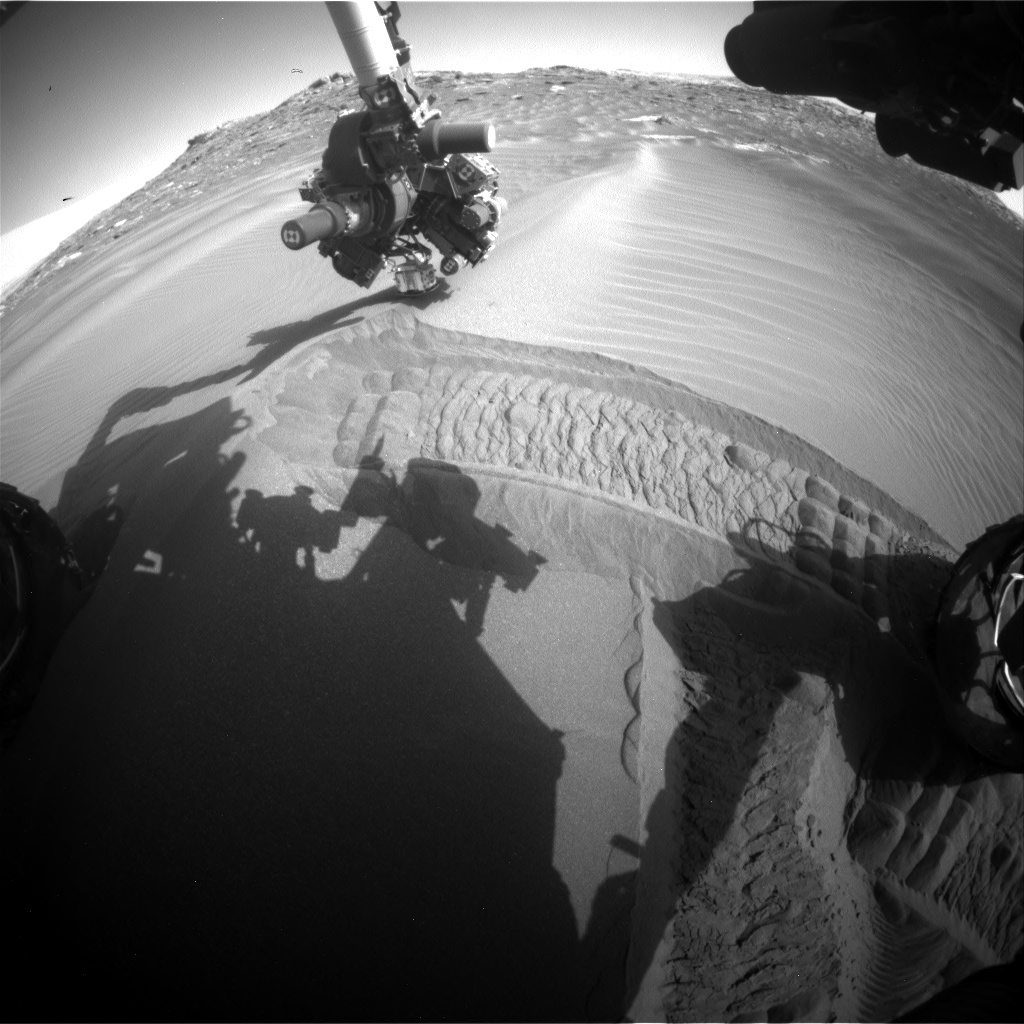 Nasa's Mars rover Curiosity acquired this image using its Front Hazard Avoidance Camera (Front Hazcam) on Sol 1750, at drive 2088, site number 64