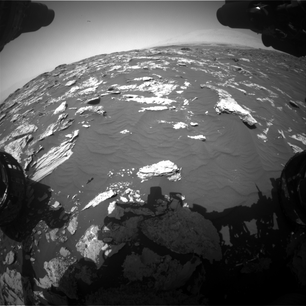 Nasa's Mars rover Curiosity acquired this image using its Front Hazard Avoidance Camera (Front Hazcam) on Sol 1751, at drive 2154, site number 64