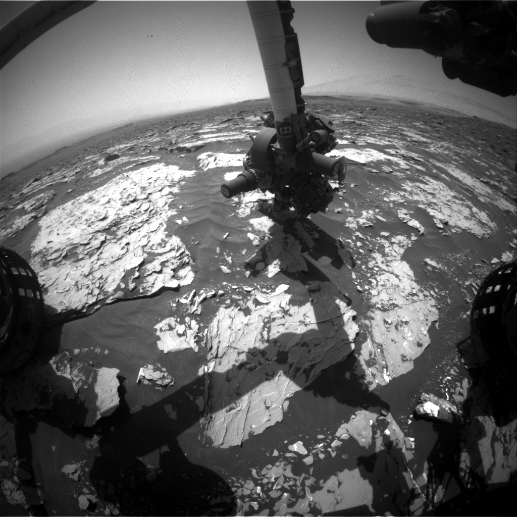 Nasa's Mars rover Curiosity acquired this image using its Front Hazard Avoidance Camera (Front Hazcam) on Sol 1753, at drive 2238, site number 64