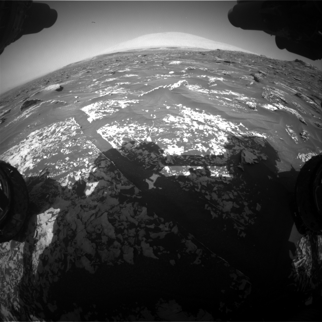 Nasa's Mars rover Curiosity acquired this image using its Front Hazard Avoidance Camera (Front Hazcam) on Sol 1753, at drive 2442, site number 64