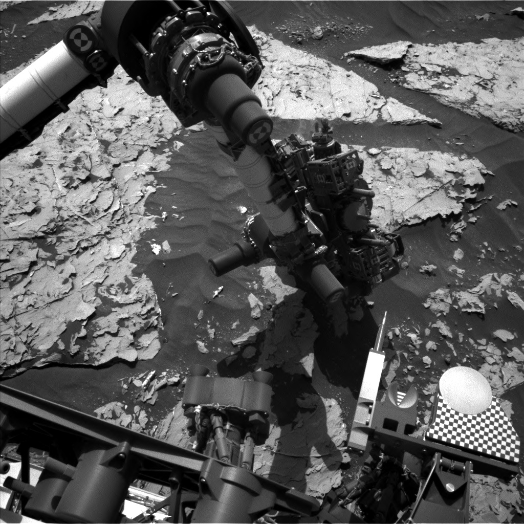 Nasa's Mars rover Curiosity acquired this image using its Left Navigation Camera on Sol 1753, at drive 2238, site number 64